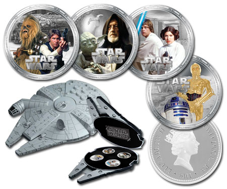 Millenium Falcon Silver Proof Collection