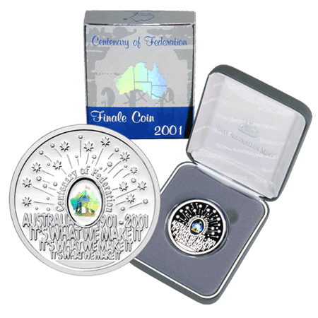 2001 $5 Federation Finale Hologram Silver Proof