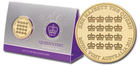 2011 $5 Queens Visit Al-Br Unc