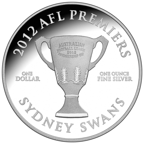 2012 $1 AFL Premiership 1oz Silver Proof