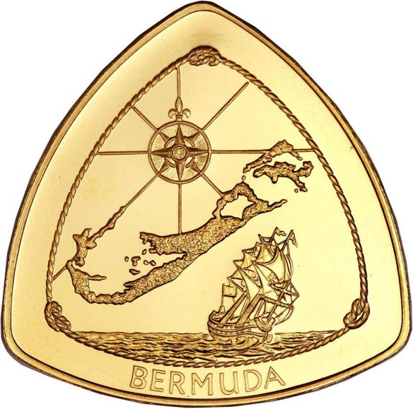 1996 Bermuda Triangle $30 Gold 1/2oz Proof
