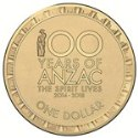 2014 Centenary of ANZAC Commemorative $1
