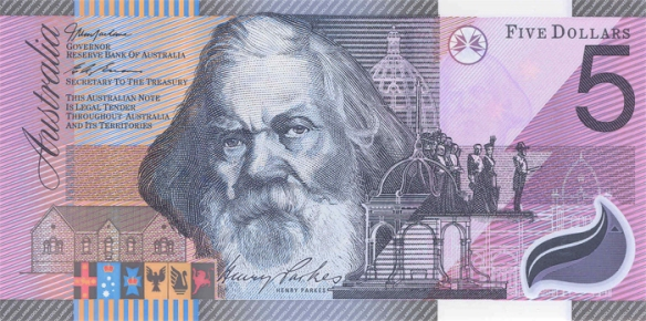 2001 Henry Parkes Federation $5