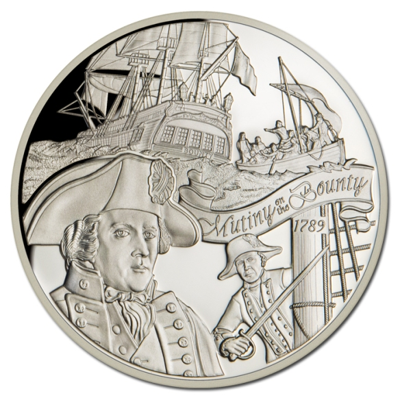 Pitcairn 2014 $2 Mutiny On The Bounty Silver Proof