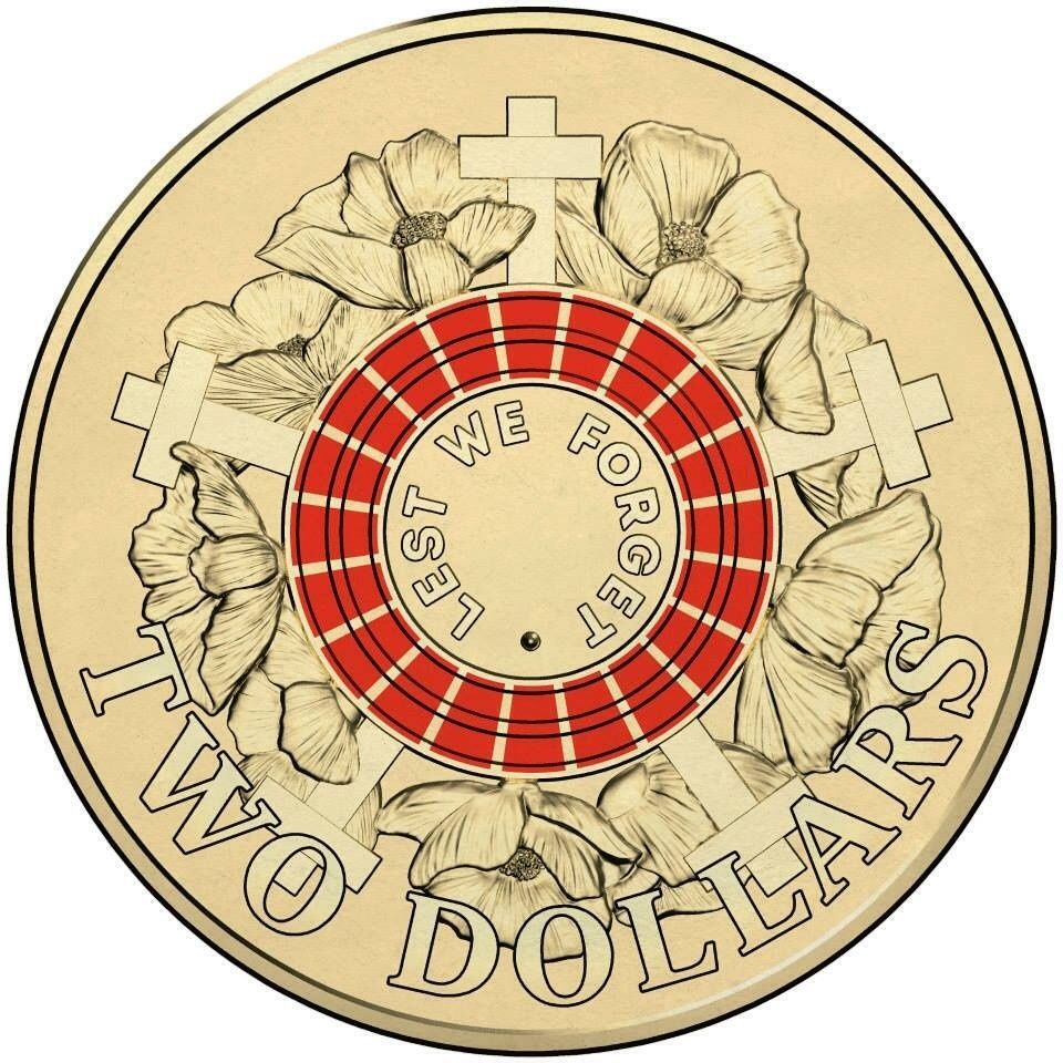 """2015 $1 /"""" 100 YEARS OF ANZAC /"""" 1 Coin From  SECURITY BAG  COIN Very Rare"""