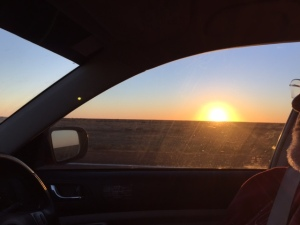 Sunrise departure from Coober Pedy