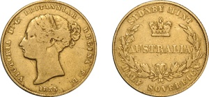 Lot 1073 - 1855 Sovereign Fine/gFine