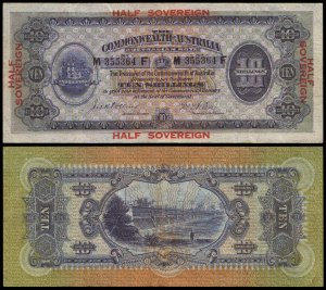 Lot 2106 Ten Shillings Collins-Allen medium prefix and suffix letters M/F last prefix (R2e)