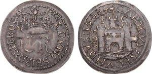 Lot 2689 - English Civil War, Pontefract Besieged (June 1648-March 1648/9) Round Shilling 1648