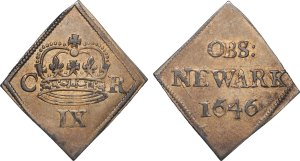 Lot 2687 - Newark Besieged (1645-May 1646) Ninepence 1646 (S3144; N2641)